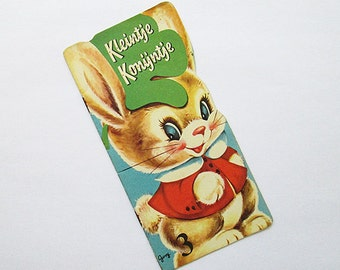 Vintage childrens booklet from the 50's. Beautiful illustrations of a little rabbit.