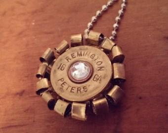 Bullet Casing Flower Necklace