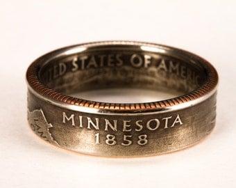 Minnesota State Quarter Coin Ring