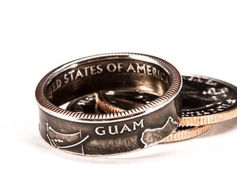 Guam Quarter Coin Ring
