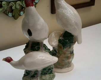 Pair of Pottery Wild Turkey Pairs