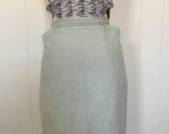 Vintage Cotton Pencil Skirt