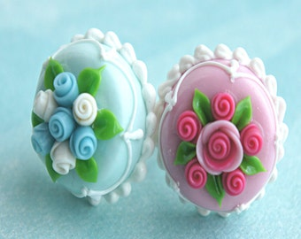 celebration cake ring- birthday cake ring; wedding cake ring, miniature food jewelry