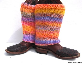SPRING BOOT SWEATERS, Hand Knit Boot Covers,
