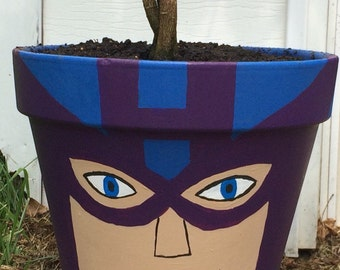 Superhero Flower Pots