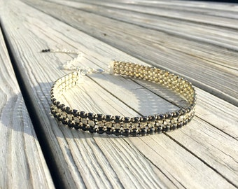 Black Diamond Rhinestone Choker