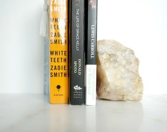 Boho Bookend : Natural Crystal Rock * Paperweight or Doorstop