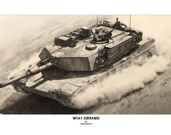 M1A1 Abrams Customizable S/N Print