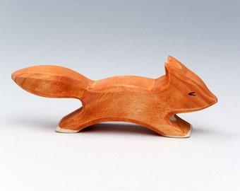 Fox Toy - Wooden Toy - Baby Fox - Toy Animals - Waldorf Toy - Wood Toy - Wooden Animals - Natural - Handmade - Wooden Fox - Waldorf Animal