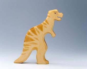 Wooden Dinosaur Toy - Waldorf Wood Dinos - Heirloom Toys - Dinosaur Toy - Wood T-Rex - Dino - Tyrannosaurus Rex - Natural Wood Toy