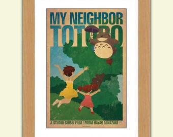 My Neighbour Totoro Print - Studio Ghibli - A3 285gsm satin luxury paper