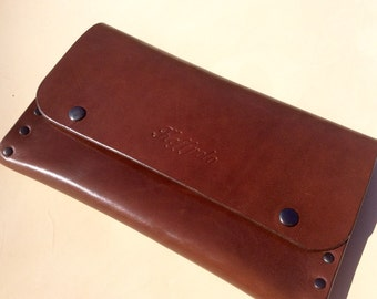 Genuine leather pouch, handmade by Koffpolo