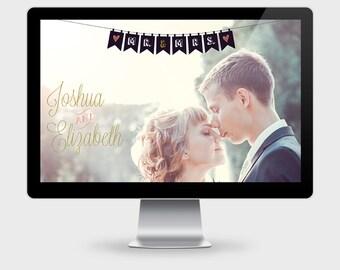 Wedding Website, Wordpress Template, Wedding RSVP, Feminine Website Template