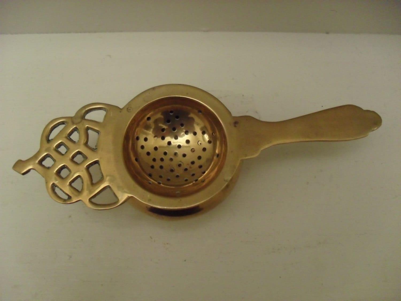 Tea Strainer Vintage Brass Strainer Tea Strainer With Stand