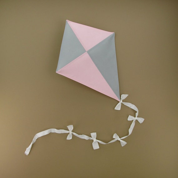 Pink and grey nursery kite patchwork baby girl by for Pink and grey nursery fabric