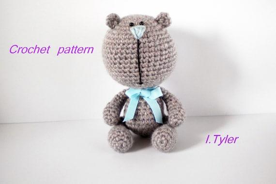 Grey Bear Amigurumi Crochet Pattern : Teddy Bear Crochet Amigurumi Pattern Mr. Grey