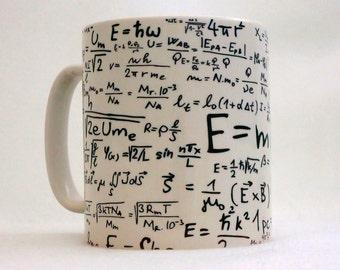 Equations Formulas Gift Mug Can Personalise Great Tutor Teacher Mathematics Maths Science Gift Formulae