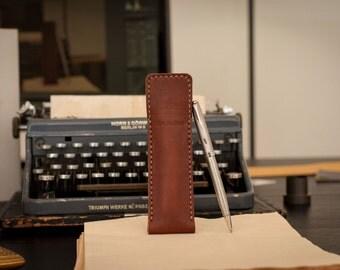 Leather Pen Case, Pencil Case, Leather Pen Pouch, Pen Holder, Pencil Pouch, Personalized Gift