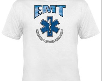 EMT shirt,emergency shirt,EMS,emt gifts,firefighter,custom gift,paramedic,gifts for dad,friend gifts,best friend gift,emergency gift,mens