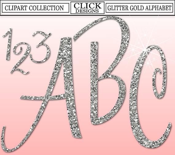 Glitter alphabets  Etsy