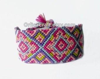 Thick pastel Cuff Friendship Bracelet 3cm - ready to buy