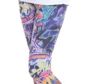 Girls Printed Capri Leggings