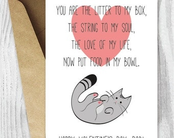 Funny Printable Valentine, Valentineu0027s Day Dad Card, Cat Dads, Valentine  From Cat,