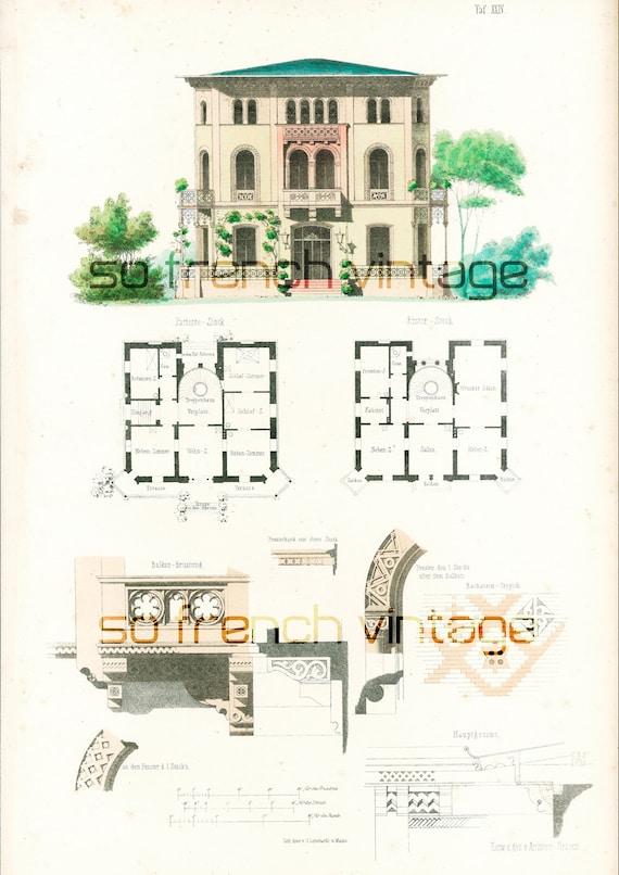 Articles similaires 1854 maison moderne et jardin plans for Plan d architecte de maison
