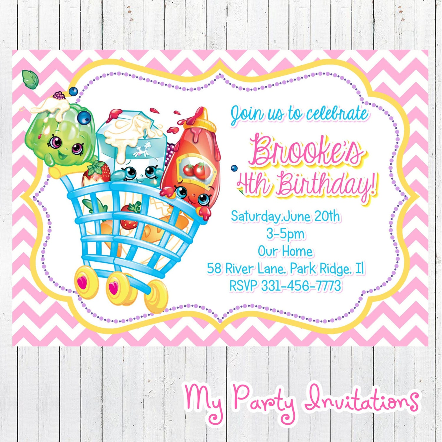 It is a photo of Eloquent Shopkins Printable Invitations