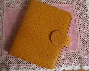 Pocket door-photos, imitation leather, Fawn