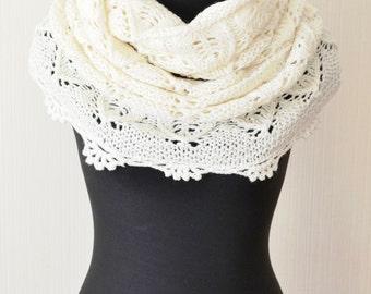 Wedding scarf Wedding wrap Wedding shawl Bridesmaid gift Winter wedding scarf White scarf Wedding cover up Bridal wrap Infinity scarf