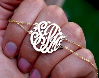 Birthday gifts Monogram bracelet, woman's  gifts,Monogram chain bracelet,personalized bracelet,womens gifts