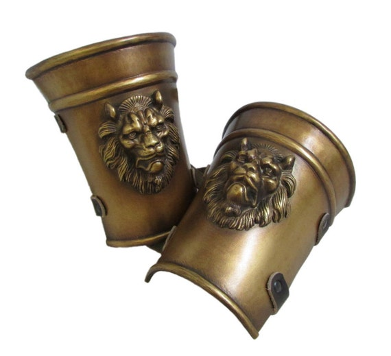 Larp Armour Classical Lion greek roman style vambraces