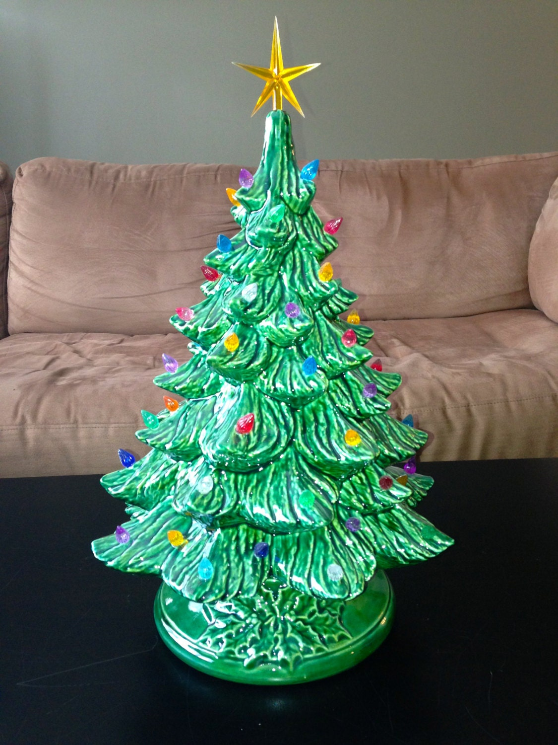 Christmas Pottery Barn Knock Offs And Others Too: Large Ceramic Christmas Tree