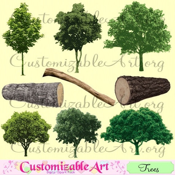 Tree Clipart Digital Tree Clip Art Digital Log Maple Tree