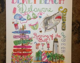 Dewey Beach Delaware Print