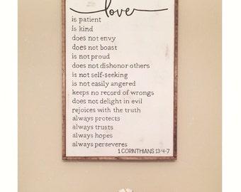1 Corinthians 13 Sign // Love Sign