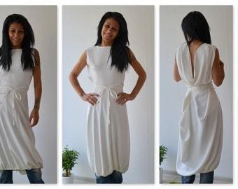 Maxi White dress/Tunic Dress/White Oversize dress/Casual White dress/White Long Dress/Daywear dress /Tunic top/Long Tunic/Loose tunic top