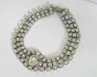 Vintage Rhinestone Bracelet Art Deco Style Vintage Bride Design