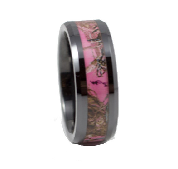 Pink And Black Tungsten Ring: Items Similar To Black Tungsten With Pink Camo Tungsten