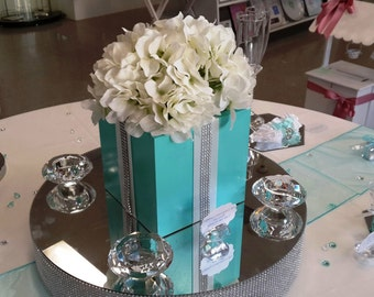 Aqua Blue Centrepiece for Weddings
