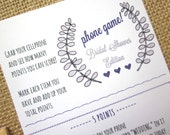 DIY Printable Bridal Shower Phone Game / Instant Download / What's in your Phone? / Cellphone Game