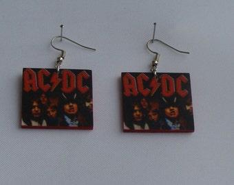 Earrings with AC/DC Logo