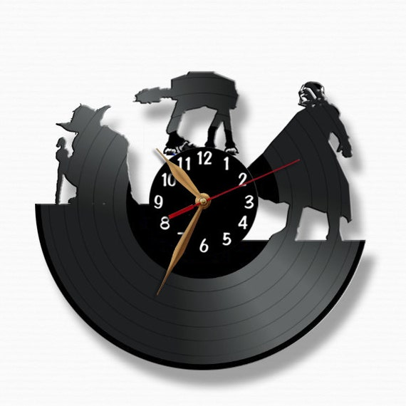 Star Wars Vinyl Record Clock Darth Vader At At By Vinylimage