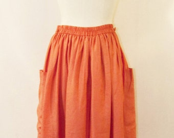 Coral 80s skirt
