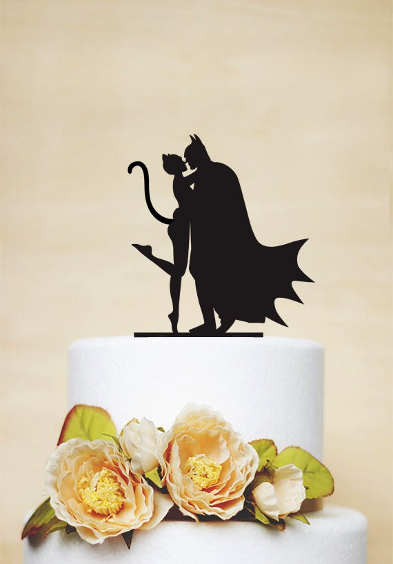 Batman And Catwoman Cake Topper Custom Cake Topper Wedding
