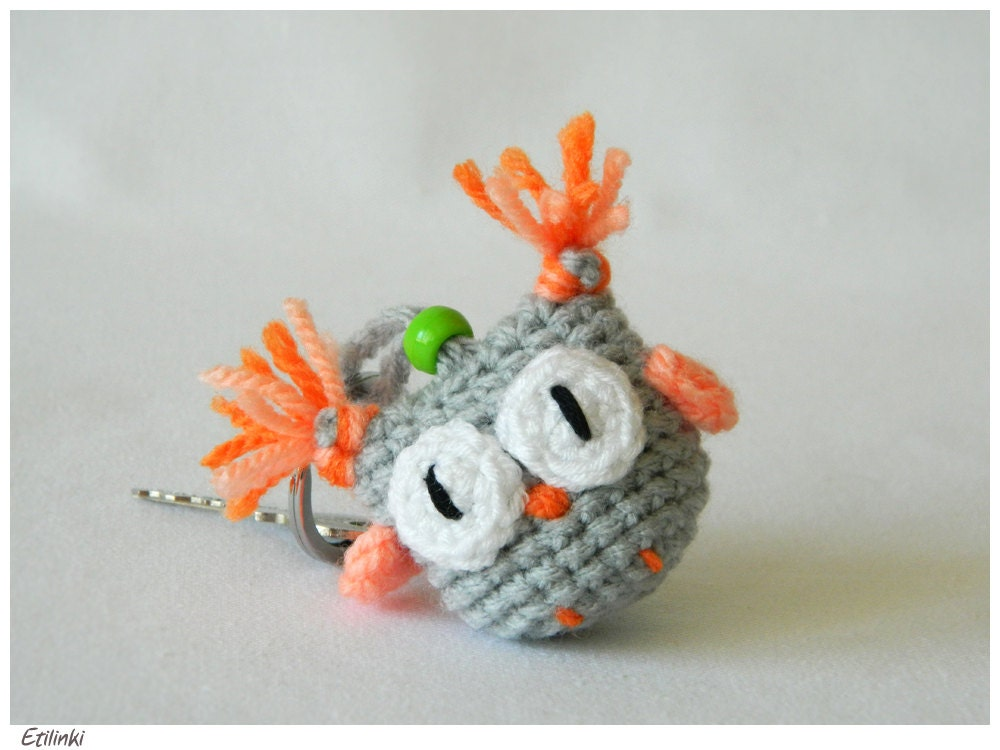 Amigurumi Owl Keychain : Cute Keychain Crochet Owl AmigurumiHakeln by Etilinki on Etsy