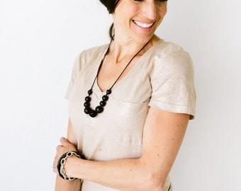 SALE Teething Necklace Silicone Nursing Necklace Joy - Black