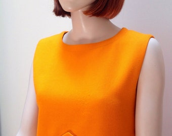 1960s Pierre Cardin orange space age shift dress