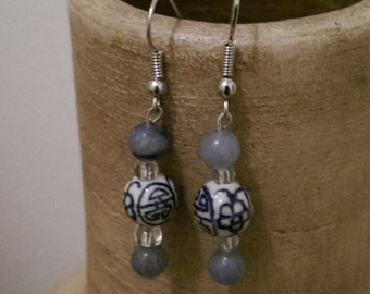 Asian Inspired Glass Earrings